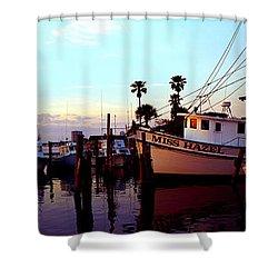 Daytona Beach Fl Last Chance Miss Hazel And Sonny Boy Shower Curtain