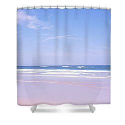 Daytona Beach Fl Life Guard  Shower Curtain