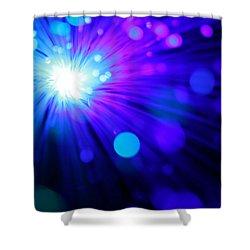 Dazzling Blue Shower Curtain