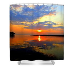 Dazzling End Of The Day Shower Curtain