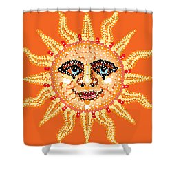 Dazzling Sun Shower Curtain