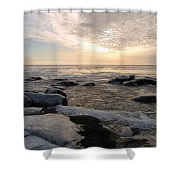 Dazzling Winter On Lake Superior Shower Curtain by James Peterson