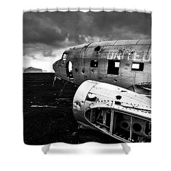 Dc-3 Iceland Shower Curtain by Gunnar Orn Arnason