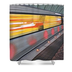 Dc Light Rail Shower Curtain by Jude Labuszewski