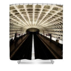 Dc Metro Shower Curtain by Angela DeFrias