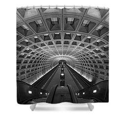 D.c. Subway Shower Curtain by Dustin  LeFevre