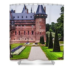 De Haar Castle 2. Utrecht. Netherlands Shower Curtain by Jenny Rainbow