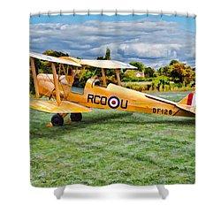 De Havilland Dh82 Tiger Moth Shower Curtain