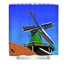 De Huisman Spice Mill Shower Curtain by Jonah  Anderson