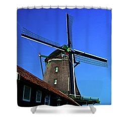 De Zoeker Blue Skies Shower Curtain by Jonah  Anderson