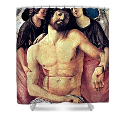 Dead Christ Supported By Angels 1485 Giovanni Bellini Shower Curtain by Karon Melillo DeVega