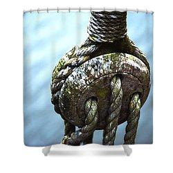 Dead Eye - Nautical Art  Shower Curtain by Charlie Brock