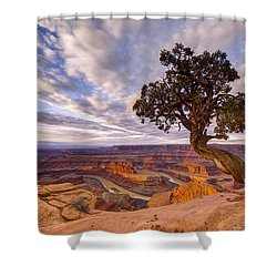 Dead Horse Point Sunrise Shower Curtain by Dustin  LeFevre