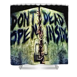 Dead Inside Shower Curtain