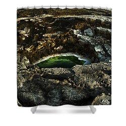 Dead Sea Sink Holes Shower Curtain by Dan Yeger