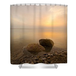 Dead Sea Sunrise Shower Curtain
