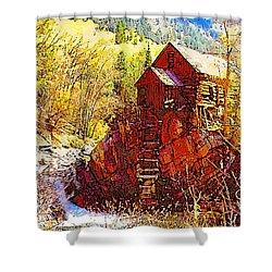 Deadhorse Mill Shower Curtain by Dan Miller