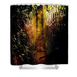 Deadly Path Shower Curtain by Loriental Photography