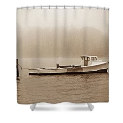 Deadrise Waiting Shower Curtain by Skip Willits