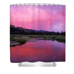 Deadwood River Shower Curtain by Leland D Howard