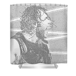 Dean Ambrose Shower Curtain by Paul  Wilford