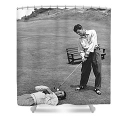 Dean Martin & Jerry Lewis Golf Shower Curtain by Underwood Archives