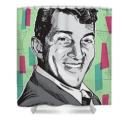 Dean Martin Pop Art Shower Curtain by Jim Zahniser