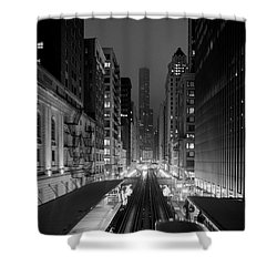 Shower Curtain featuring the photograph Dear Chicago You're Beautiful by Peta Thames