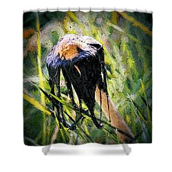 Death Of A Mushrrom Shower Curtain by Tracie Kaska