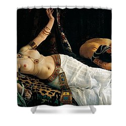 Death Of Cleopatra Shower Curtain by Achilles Glisenti