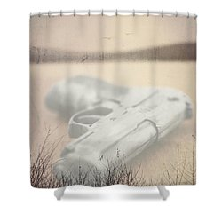 Death On Solid Water Shower Curtain by Edward Fielding