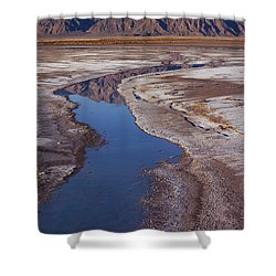 Death Valley Salt Stream 1 Shower Curtain