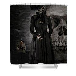 Deathly Grace Shower Curtain by Lourry Legarde