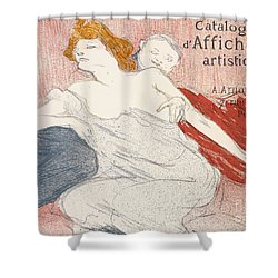 Debauche Deuxieme Planche Shower Curtain by Henri de Toulouse-Lautrec