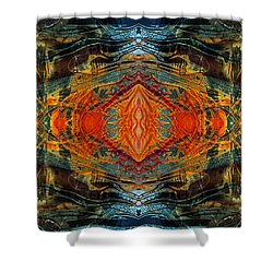 Decalcomaniac Intersection 2 Shower Curtain