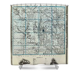 Decatur County Map Shower Curtain by Gianfranco Weiss