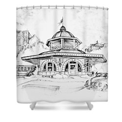 Decatur Transfer House Shower Curtain by Scott and Dixie Wiley
