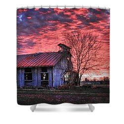 Shower Curtain featuring the photograph December At Bristol Park by Jaki Miller