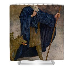 December Shower Curtain by Hans Thoma