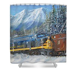 December On Stampede Pass Shower Curtain by Christopher Jenkins