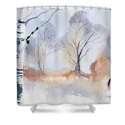 December Shower Curtain