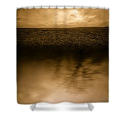December Sky Shower Curtain by Bob Orsillo