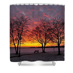 Shower Curtain featuring the photograph December Sunset by Terri Gostola
