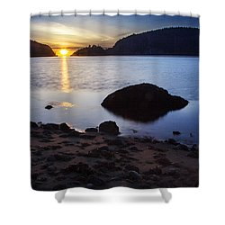 Deception Pass 3 Shower Curtain by Sonya Lang
