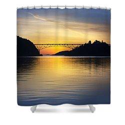 Deception Pass Bridge Shower Curtain by Sonya Lang