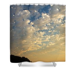 Deception Pass Shower Curtain by Sonya Lang