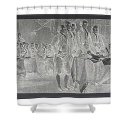 Declaration Of Independence In Negative Shower Curtain by Rob Hans