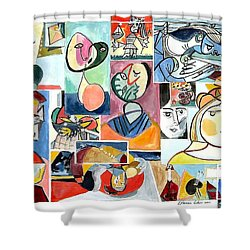 Deconstructing Picasso - Women Sad And Betrayed Shower Curtain by Esther Newman-Cohen