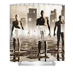 Deconstruction Shower Curtain