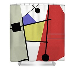 Deconstruction Shower Curtain by Richard Rizzo